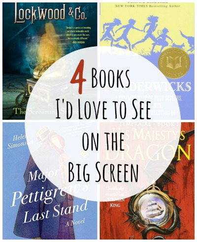 4 books I'd love to see on the big screen